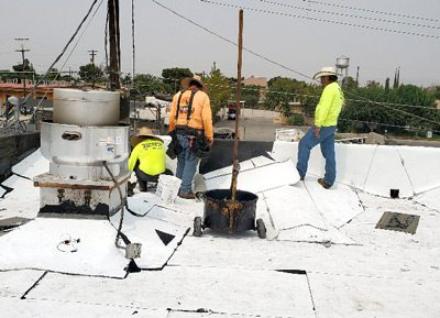 Commercial Roofers Installing Roof